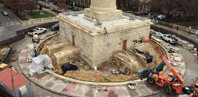 Project Profile: Mt. Vernon Monument Restoration by Ruff Roofers